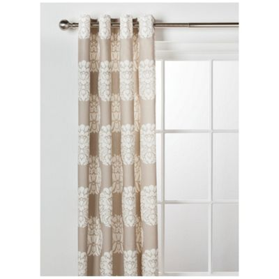 Tesco Nouveau Lined Eyelet Curtain W163xL229cm (64x90