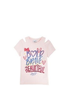 Nickelodeon JoJo Siwa Slogan T-Shirt Pink Multi 5-6 years