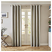 Tesco Canvas Lined Eyelet Curtains - Silver