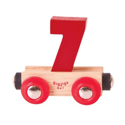 Bigjigs Rail Rail Name Number 7 (Dark Red)