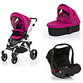 ABC Design Mamba 3 in 1 Pram Travel System - Grape (Silver Frame)