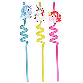 Gigi Queen Colourful Unicorn Crazy Drinks Straws Plastic Straw Kids Party Favour