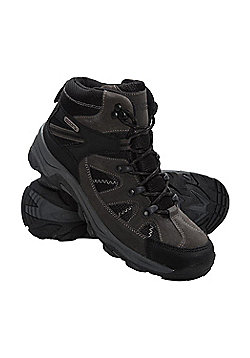 Mountain Warehouse Womens Fully Waterproof Boots with Suede and Mesh Upper - Black