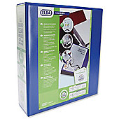 Elba Presentation Lever Arch File Clear Cover Pockets 2-Ring A4 Blue Ref 400008438 [Pack 5]