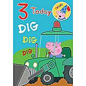 Peppa Pig George Pig Birthday Card - 2 Years