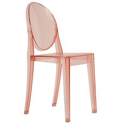 Gentil V Rose Pink Ghost Chair