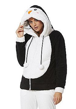 F&F Penguin Fleece Hoodie - Black