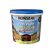 Ronseal Fence Life Plus+ Dark Oak 5 Litre
