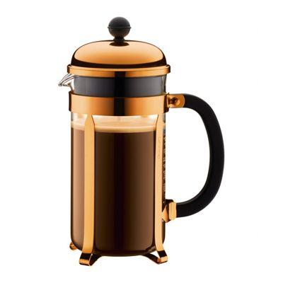 Bodum Chambord 8 Cup 1.0L Coffee Press Cafetiere, Copper