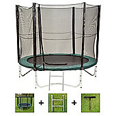 Up and About 8ft Air Pro Advanced Trampoline Package with Free Ladder, Weather Cover and Building Tool