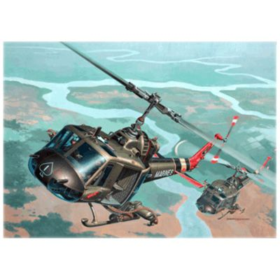 Revell Bell UH-1 Huey Hog Helicopter (Scale 1:48)