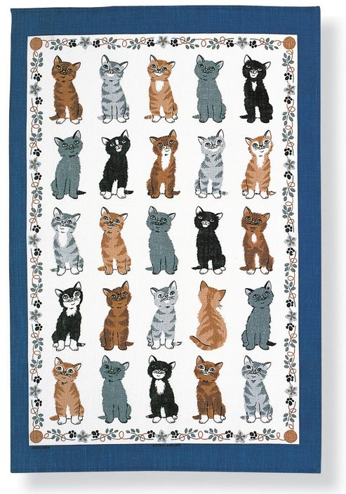 Ulster Weavers Kittens Arrived Linen Tea Towel