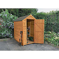 Forest Garden Overlap Dip Treated 6x4 Apex Shed No Windows