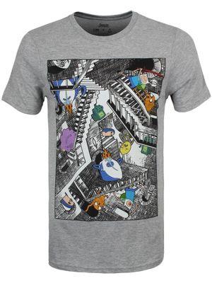 Adventure Time Escher Stairs Grey Men's T-shirt