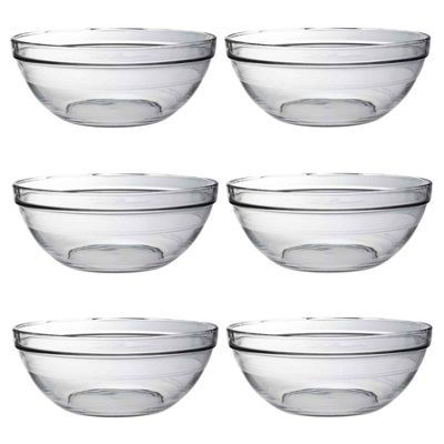 Duralex Lys Stacking Glass Cooking / Ingredients / Food Bowl - 31cm - x6