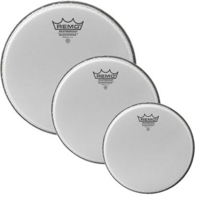 Remo Silentstroke Acoustic Drum Kit Practice Head Pack (10, 12, 14 Inch )