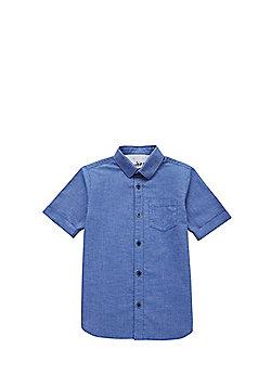 F&F Twisted Yarn Short Sleeve Shirt - Blue