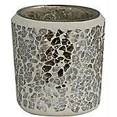 Mercury Mosaic Round Tealight Holder
