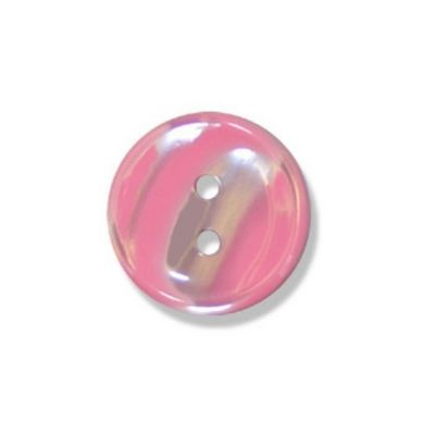 Impex Polyester Stripe Buttons Pink 18mm 10pk