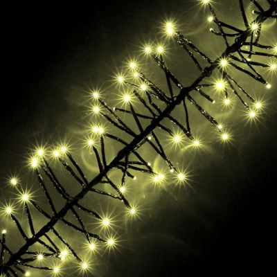 720 warm white chasing outdoor cluster led christmas lights