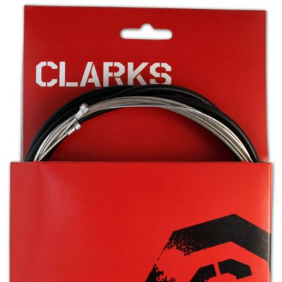 Clarks Universal S/S Front & Rear Gear Cable Kit w/SP4 Black Outer Casing