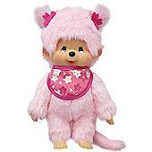 Monchhichi 20 cm Pink Sakura Girl Doll