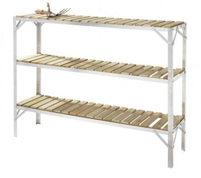 Simplicity Caverswall Staging / Bench Wooden Three Tier 1ftWide x 4ft Long