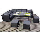 Luxan Prestige Corner Table Set with Sofa and Footstools