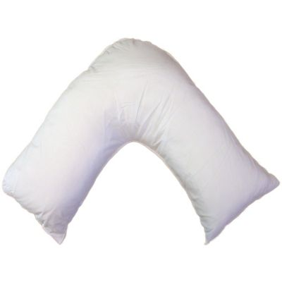 Pair of Hollow Fibre Filling V Shaped Pillows