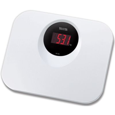 Tanita HD394WH Compact Wipe Clean Digital Bathroom Scale│White│New│