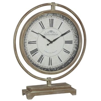 Vintage Globe Clock - Light Brown