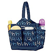 Clevamama Initials Collection Alessia Navy Caddy Baby Nappy Changing Organiser Bag