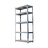Homcom Storage Rack 180cm 5 Shelf Heavy Duty Garage Shelving Shelves Unit