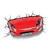 3D Light FX Red Sports Car Night / Safety Wall Light