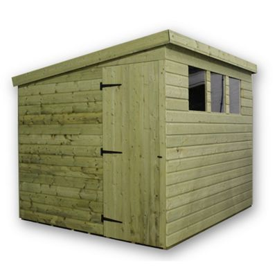 6 x 5 Maldon Pressure Treated T&G Pent Shed + 3 Windows + Side Door (6ft x 5ft)