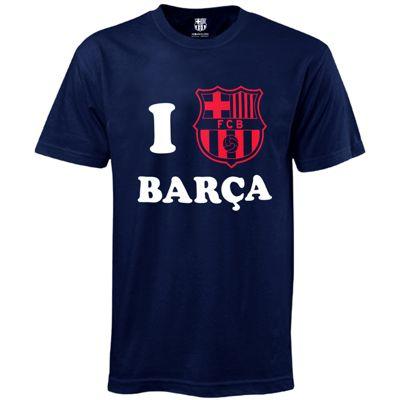 FC Barcelona Mens 'I Love Barca' T-Shirt Large