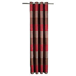 Tesco Stripe Taffetta Eyelet Curtains W163xl137cm 64x54