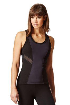 Challenge Fitted T Back Gym Vest Black XL