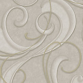 Boutique Flamenco Textured Geometric Taupe/Champagne Wallpaper