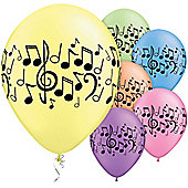 Music Notes 11 inch Latex Balloons - 25 Pack
