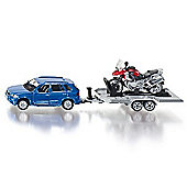 Car With Trailer and Motorbike