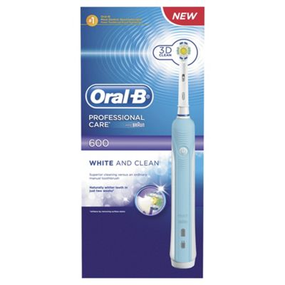 Oral B Professional Care 600 Electric Toothbrush Pro White