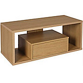 Metric - Wood Effect Coffee Table / Tv Unit / Entertainment Centre - Oak