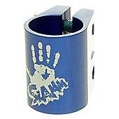 Slamm Oversized Double Collar Clamp - Anodised Blue