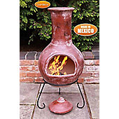 Extra large Colima Mexican Chimenea in Red