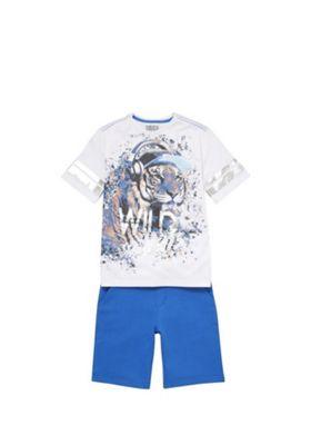 F&F Wild Beats Mesh T-Shirt and Shorts Set Multi 5-6 years