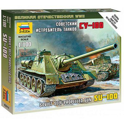 ZVEZDA 5044 Soviet Self Propelled Gun SU-100 1:72 Model Kit