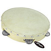 "Tiger 10"" Single Row Wood Tambourine"
