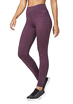 F&F Active Fleece Lined Leggings - Purple