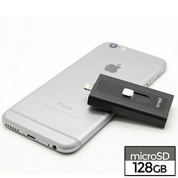 time2 128GB iExpand iOS Flash Drive (USB 3 0 & Lightning connectors)